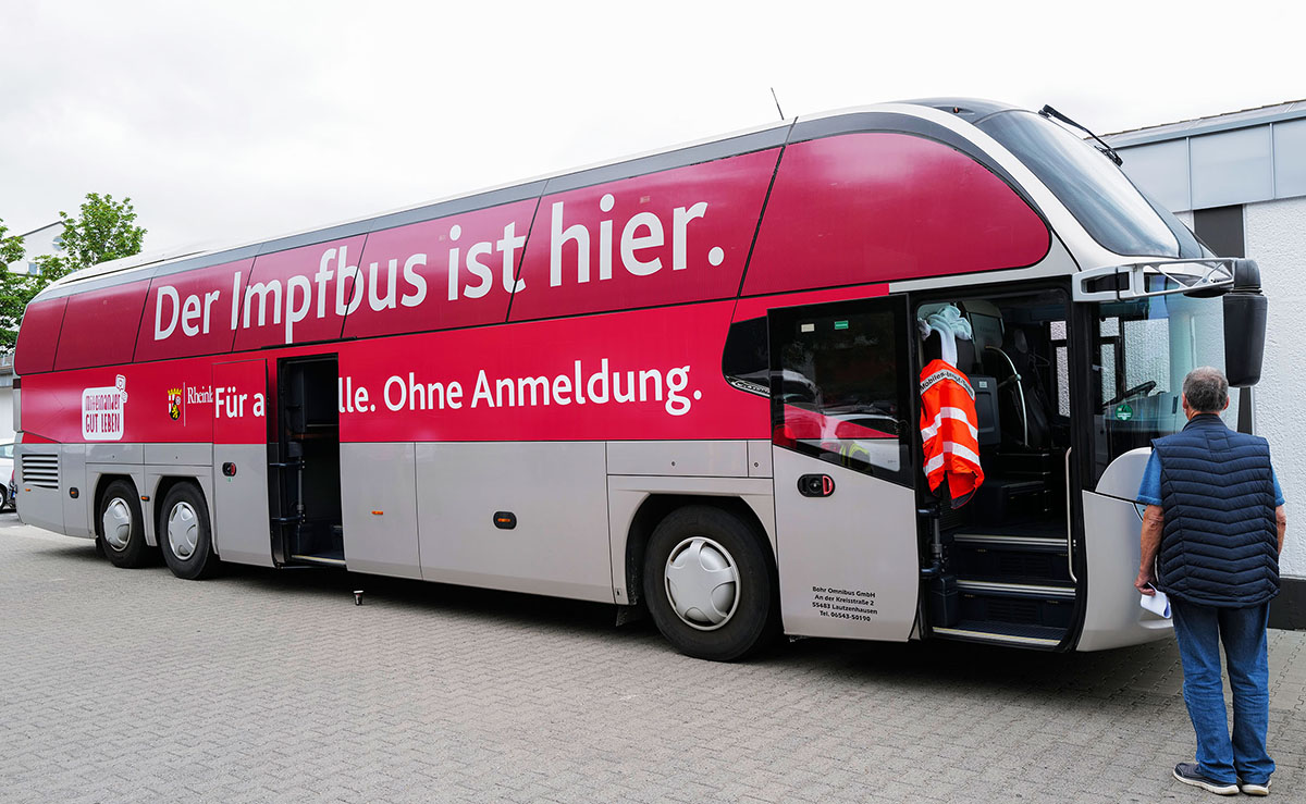 Tourplan des Impfbusses im Kreis Neuwied