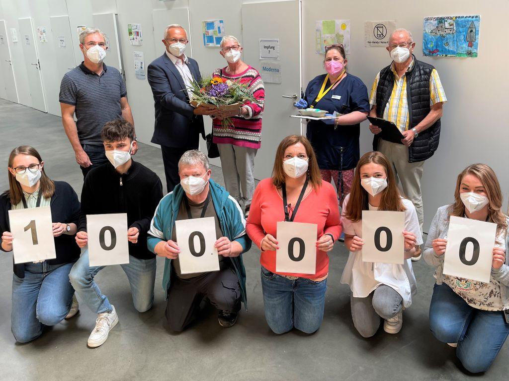 100.000. Impfung am IZ: Ein Meilenstein im Kampf gegen Corona