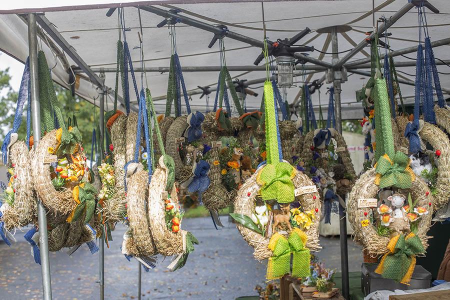 Herbstliches Wetter beim Urbacher Jahrmarkt