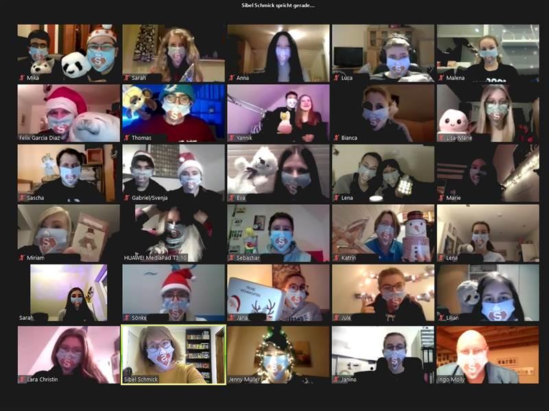 Jugendpflegen: Virtuelle Weihnachtsfeier für Ehrenamtler