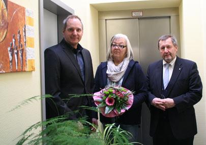 Claudia Heisig feierte ihr 40-j�hriges Dienstjubil�um