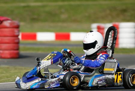 Tom Kalender beim ADAC Kart Cup in Oschersleben. (Foto: privat)