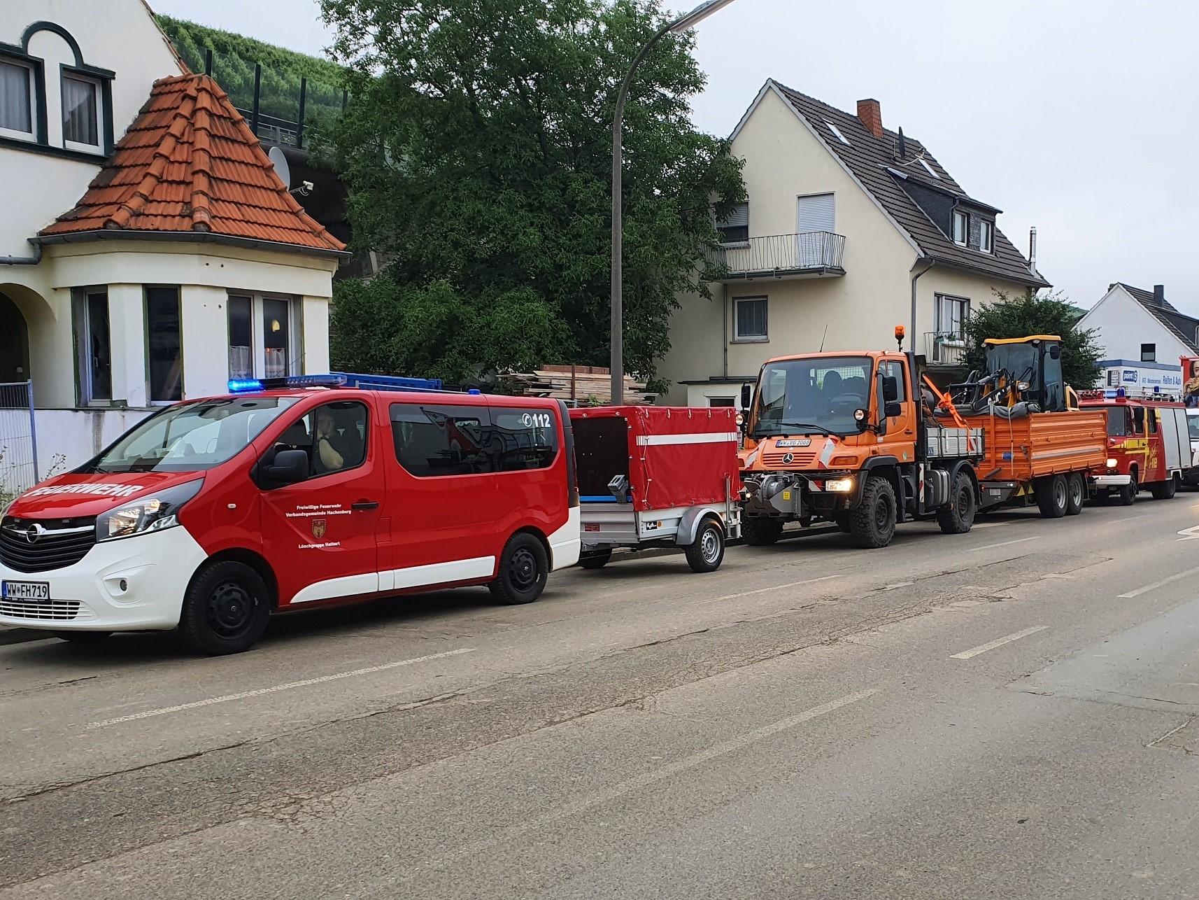 Flutkatastrophe: Hachenburg entsendet Einsatzkräfte
