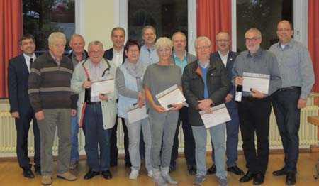 Im Rahmen der Mitgliederversammlung der CDU Katzwinkel wurde langjährige Christdemokraten geehrt. Foto: CDU
