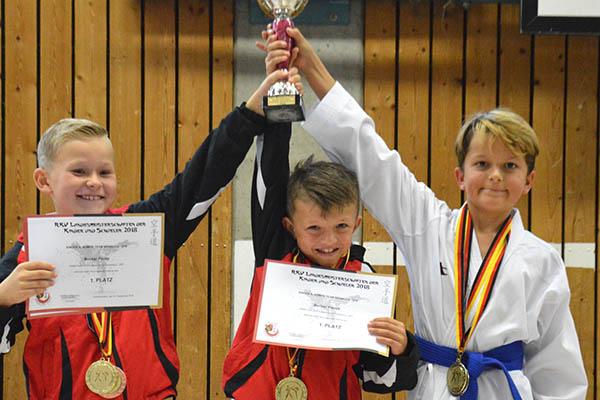 KSC Karate Team mit neun Mal Gold bei Landesmeisterschaft