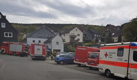 Bei Kellerbrand in Mudersbach ein Bewohner verletzt