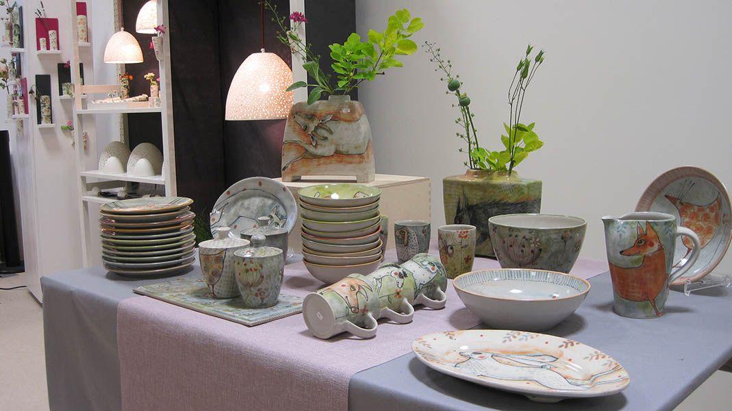 Indoor-Keramik-Markt im Keramikmuseum im Westerwald