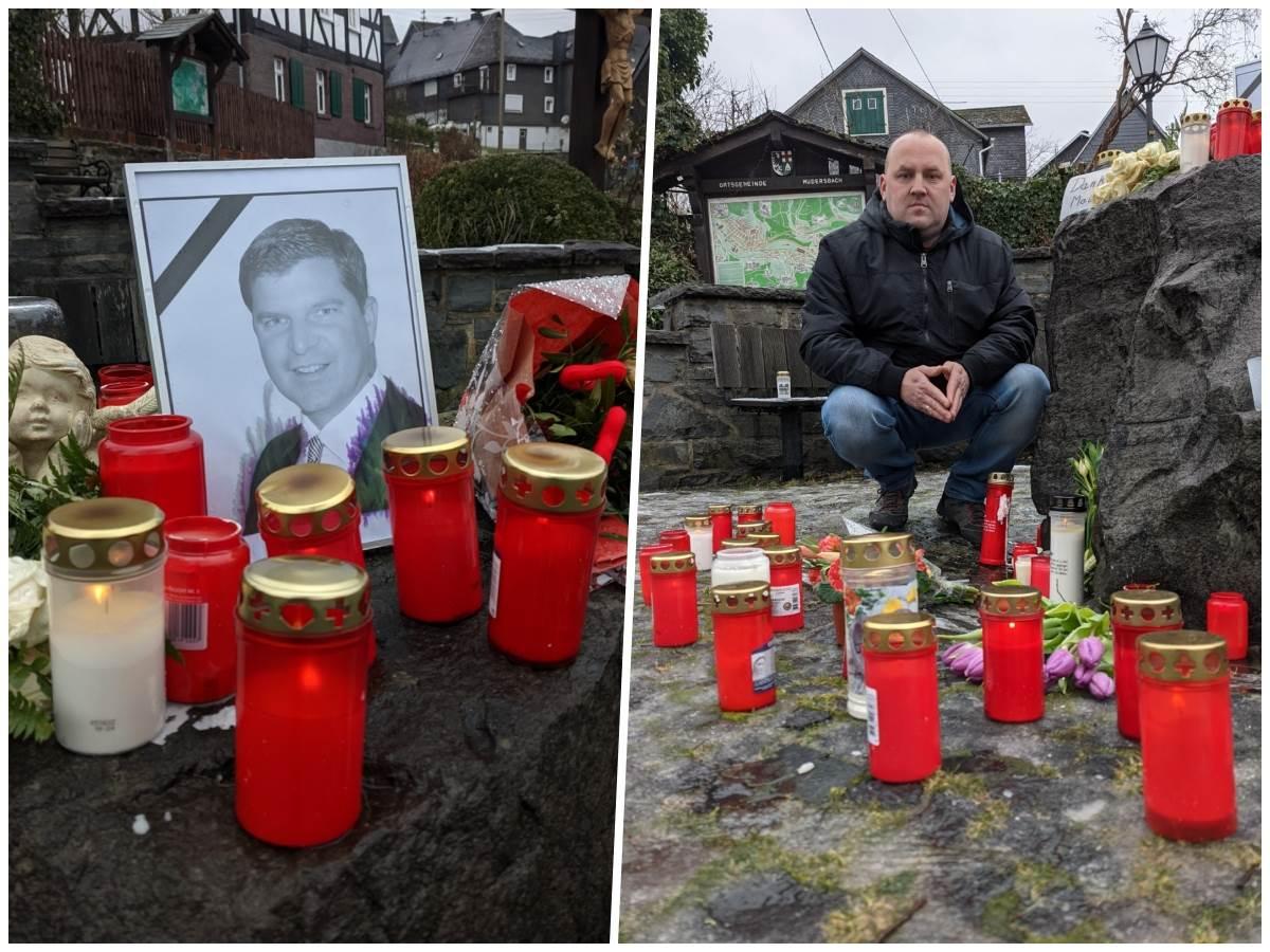 Tomasz Makowski lädt alle Bürger ein, ihrer Trauer auf dem Dorfplatz Ausdruck zu verleihen und Maik Köhler zu gedenken. (Foto: ddp)