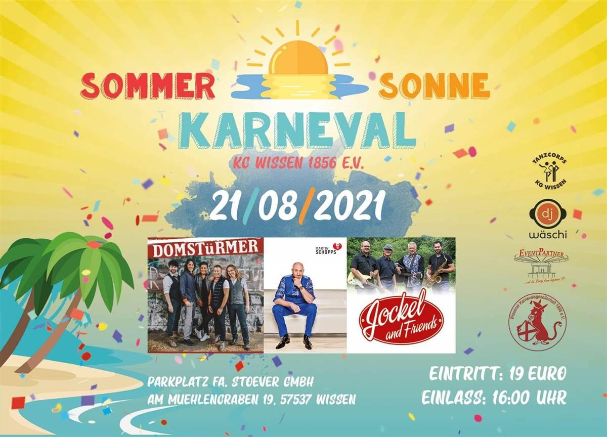 Karneval im Sommer in Wissen am 21. August – jetzt Karten sichern