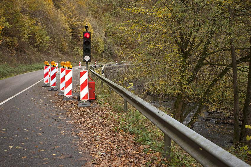L 304 - Erneuerung Stützwand zwischen Isenburg und Kausen