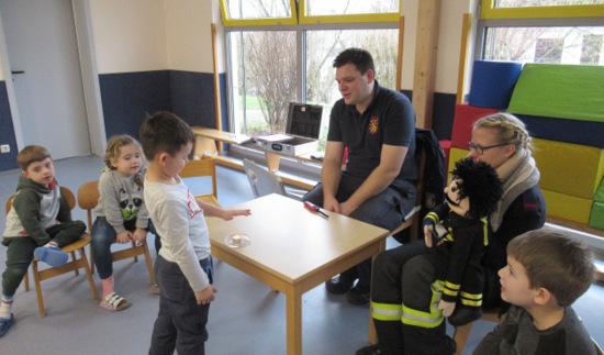 Brandschutzerziehung in der Ingelbacher Kindertagesstätte