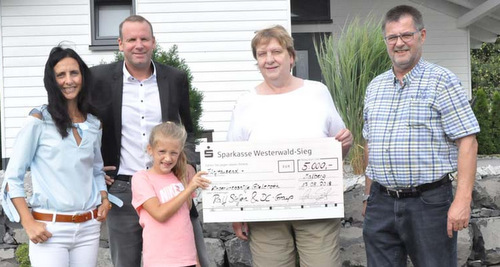 5.000 Euro für die Freunde der Kinderkrebshilfe Gieleroth