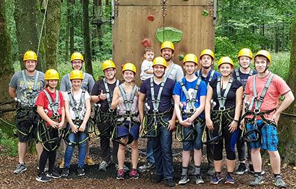 Einen schönen Tag im Kletterwald verbrachten die Mitglieder/innen des BCA in Bad Marienberg. Foto: Verein