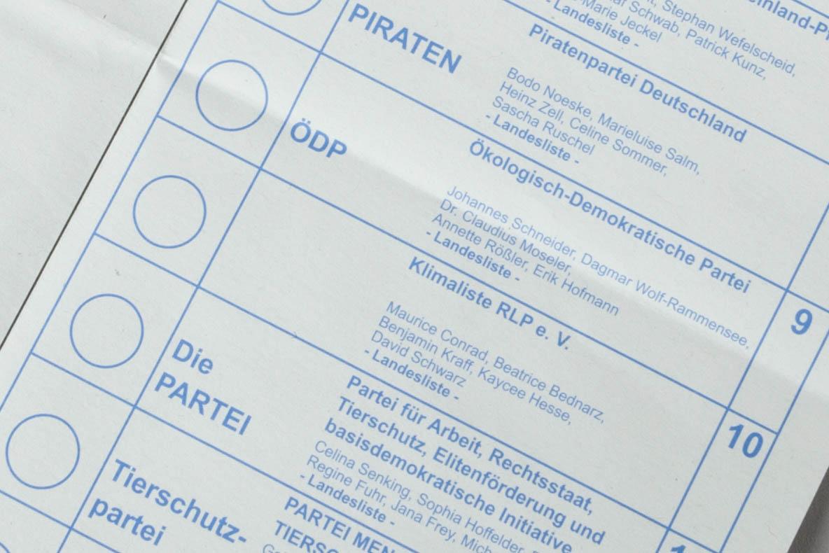 Stimmzettel für die Landtagswahl müssen nicht neugestaltet werden