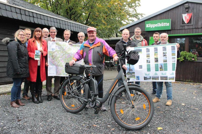 """Neue Radkarte """"Fahrradfahren rund um den Köppel"""""""