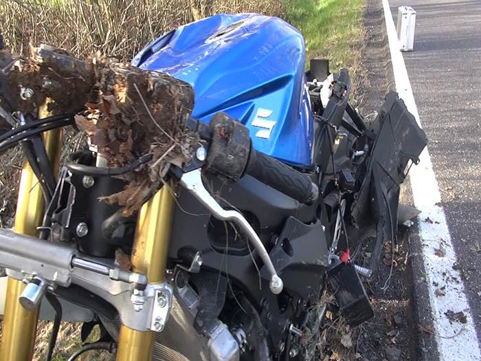 Unfall bei Hartenfels - Motorradfahrer schwer verletzt