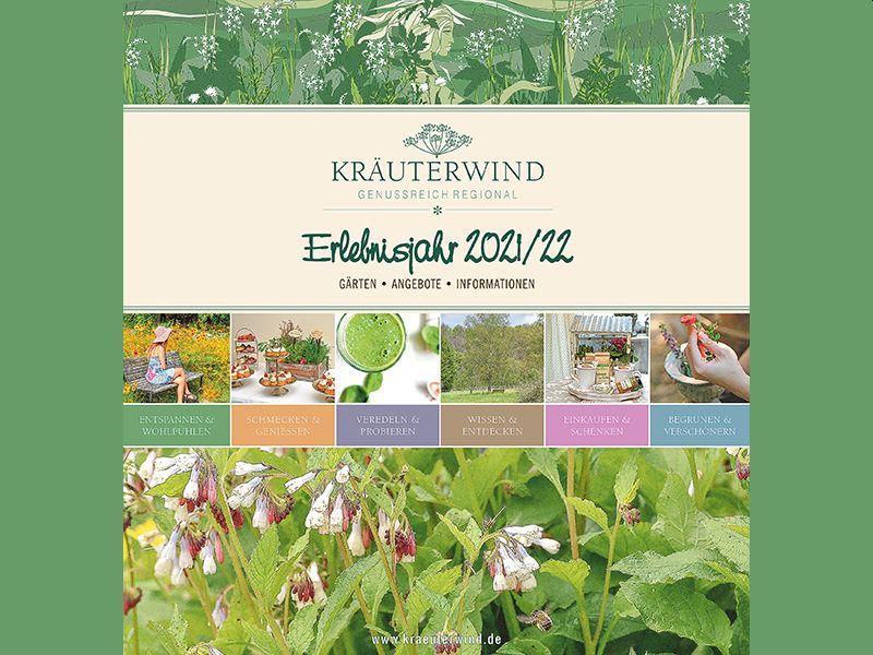 """Das Magazin """"Kräuterwind, Genussreich Regional – Erlebnisjahr 2021/22"""" ist jetzt erschienen. Foto: Kräuterwind"""