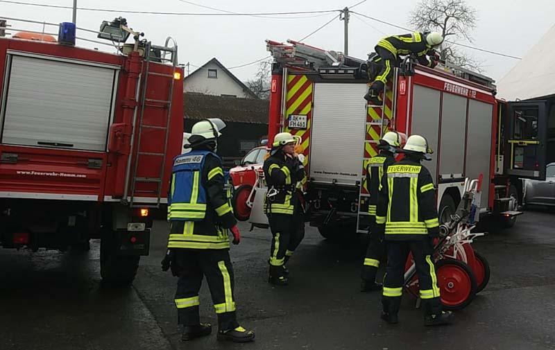 Schnelles Eingreifen der freiwilligen Feuerwehr Hamm verhinderte größeren Schaden