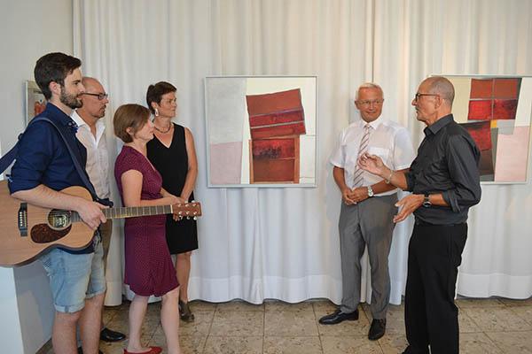 """Eröffnung der Ausstellung """"Begegnungen"""" mit Wolfgang Fieck"""