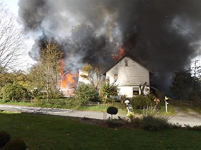 Erneuter Brandausbruch im Wohnhaus in Hilkhausen