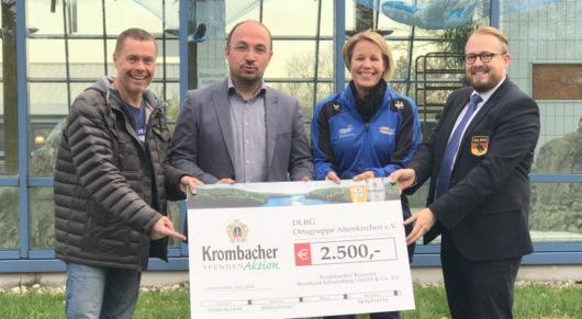 DLRG Altenkirchen: 2.500 Euro von der Krombacher Brauerei