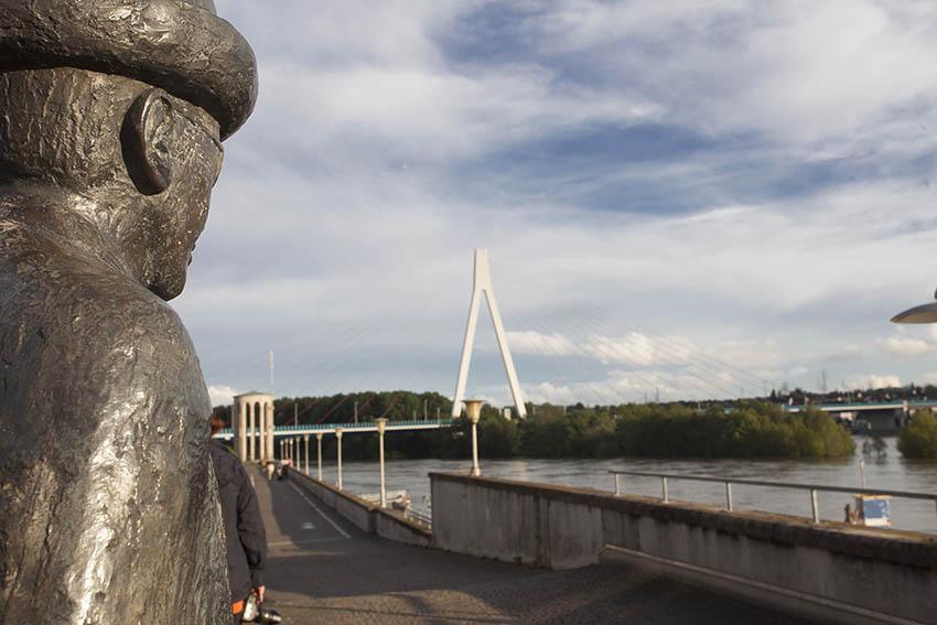 Blick vom Deich auf den Rhein. Symbolfoto: Wolfgang Tischler
