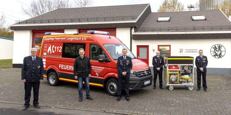 Neues Mehrzweckfahrzeug für Freiwillige Feuerwehr Langenbach bei Kirburg