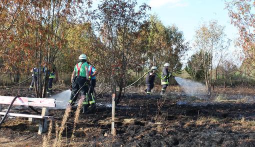 In der Gemarkung Liebenscheid kam es zu einem Flächenbrand. (Fotos: RS Media)