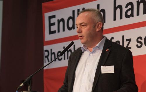 Linken-Bundestagsabgeordneter Alexander Ulrich in Betzdorf