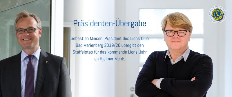 Hjalmar Menk ist neuer Präsident des Lions Club Bad Marienberg