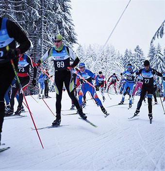 Das Foto zeigt André Schmidt mit der Startnummer 89 kurz nach dem Start. Foto: Verein