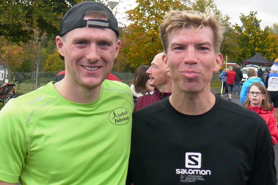 Matthias Klappert und Jendrik Graß finishten Halbmarathonlauf. Fotos: Dietrich Rockenfeller