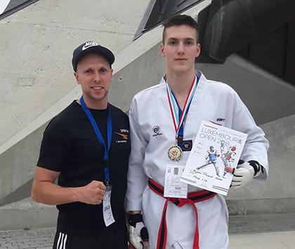 Goldmedaille f�r Julien Pascal Weber