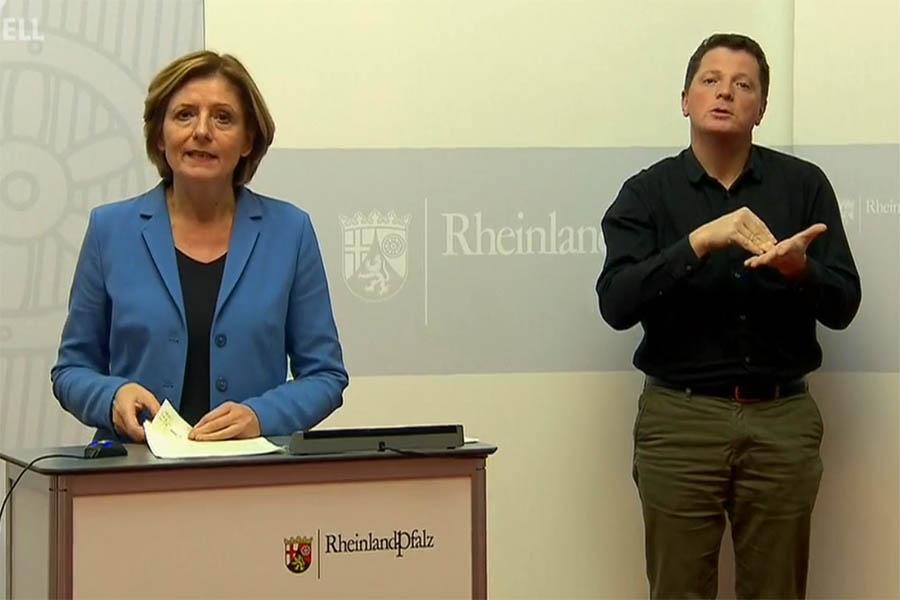 Ministerpräsidentin Malu Dreyer während der Pressekonferenz. Foto: Wolfgang Tischler