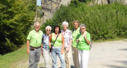 Bad Marienberger Wanderfreunde beim Deutschen Wandertag in Detmold