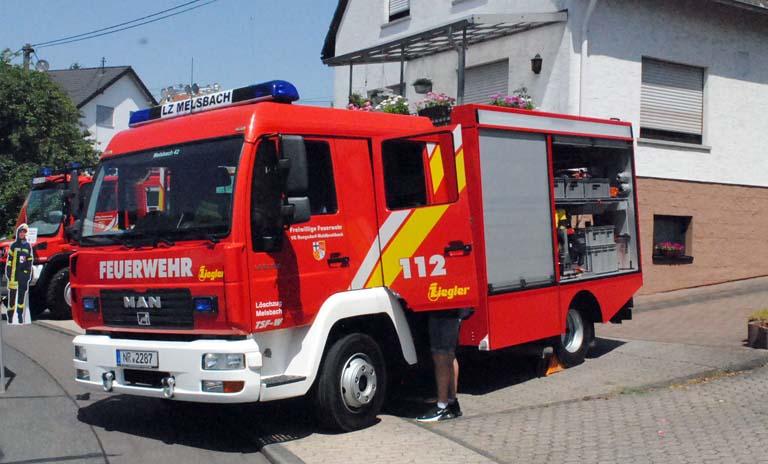 TSF-W der Feuerwehr Melsbach konnte bewundert werden. Fotos: kkö