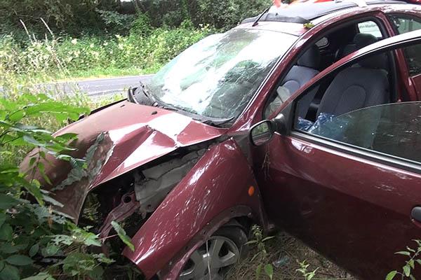 Abflug in den Wald - Fahrer erlitt schwerste Verletzungen