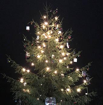 Heinzelm�nnchen schm�ckten den Michelbacher Weihnachtsbaum