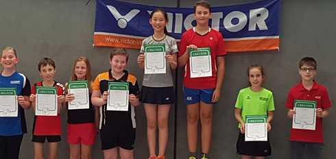 Beim Badminton-Ranglisten Turnier erfolgreich