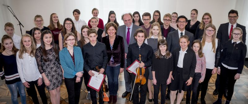 Ministerpräsidentin Malu Dreyer empfängt musikalische Talente