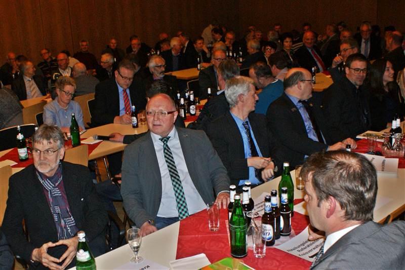 Zahlreiche Bürgermeister versammelten sich im Dr.-Wilhelm-Boden-Saal des Kreishauses zum Neujahrsempfang des Landrats. Foto: Daniel Pirker