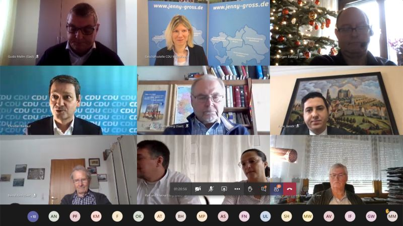 Jenny Groß lud zum digitalen Neujahrsempfang