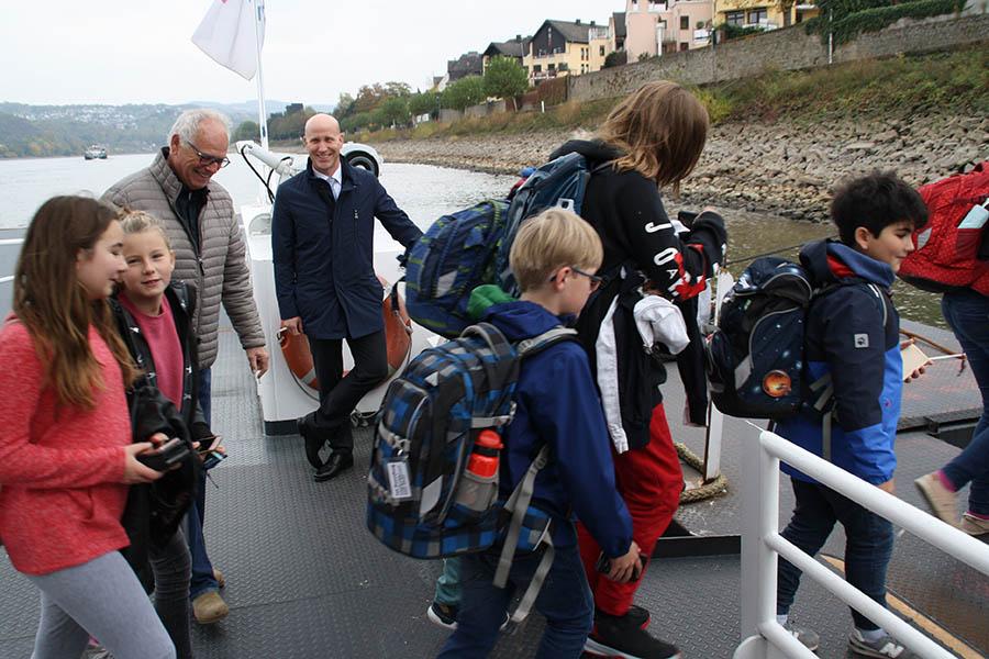 """Nixe"" hilft dem Inselgymnasium bei Niedrigwasser"