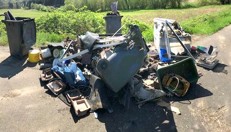 1,2 Tonnen Müll illegal entsorgt