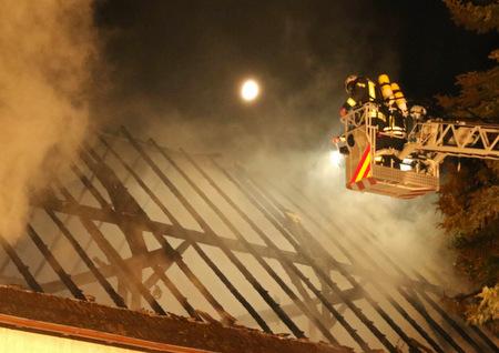Scheunenbrand in Görgeshausen