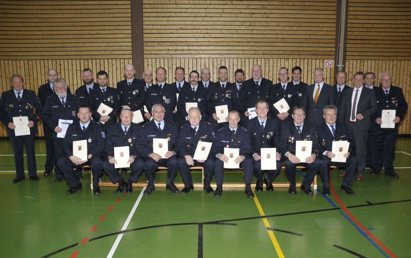 Feuerwehrauszeichnungen in der VG Wallmerod verliehen