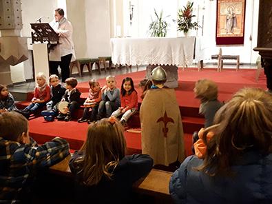 Katholische Kita St. Antonius Oberlahr lud zum Martinsumzug
