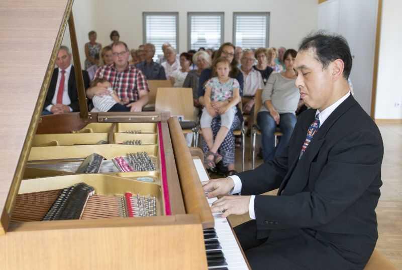 Begeisterndes Klavierspiel