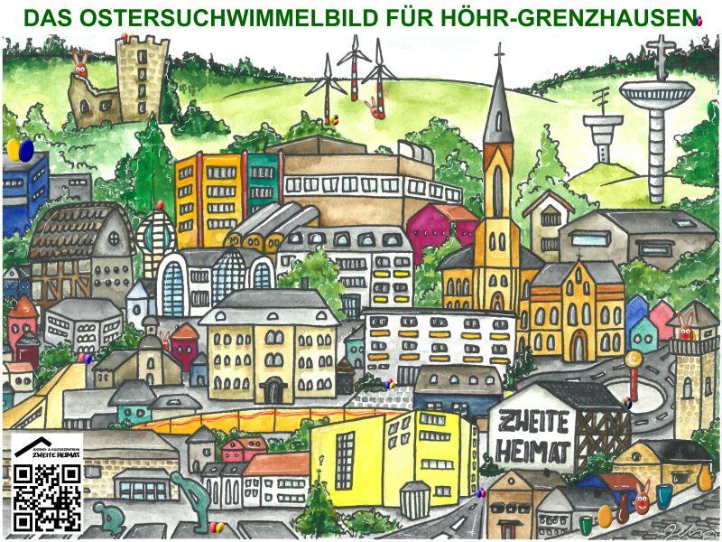 Das Ostersuchwimmelbild für Höhr-Grenzhausen
