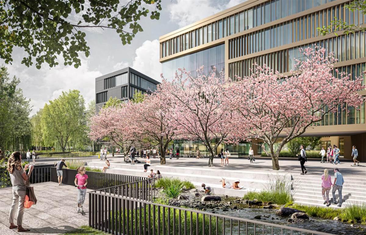 """So soll es den derzeitigen Planungen nach am Löhrtor aussehen, wenn der sogenannte """"Masterplan"""" Realität geworden ist. (Fotos: Uni Siegen)"""